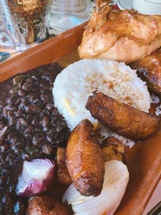 Cuban Chicken, Rice, Refried Beans & Plantain at Havana 1957